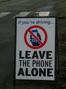 A separate safety initiative to leave the phone alone if you are driving. -photos by Britt Santowski