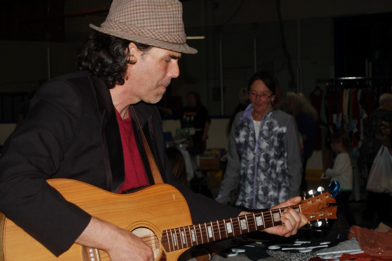 """Impromptu performance of """"Sooke Hiway"""" by Gord Phillips. Click the photo to read an article on him, and remember to vote for his song with the today and tomorrow!"""