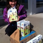 Bethany McNaught is selling her Girl Guide cookies in front of Shoppers Drug Mart in 2015. Photo by Britt Santowski.