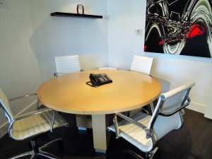 The boardroom, perfect for meetings with your clients.