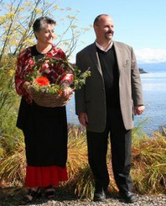 Owners Frederique and Sinclair Philip. Photos from the Sooke Harbour House website.