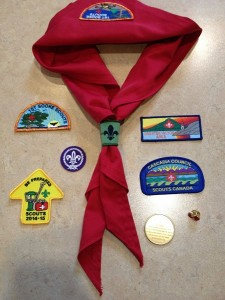 """Photo from Mayor Tait. """"My new gear with the 1st Sooke Scouts."""""""