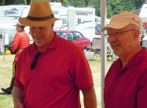 John Horgan and Randall Garrison in Sooke