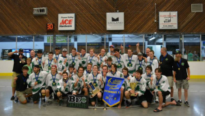 Sooke players were part of the Lacrosse team that took home a gold at the Provincial Championships