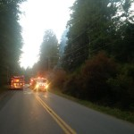 Fire fighters attend brush fire in Sooke