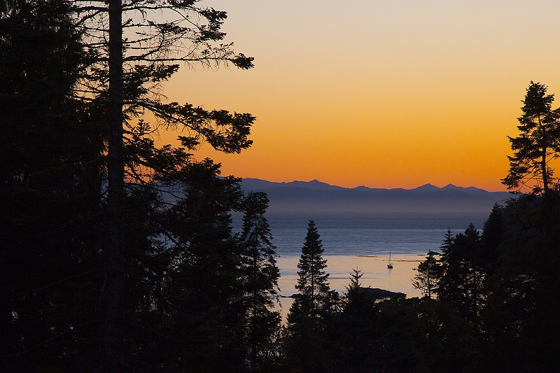 Harvey Russell: Sunset Over Sooke Bay