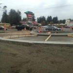 The beloved roundabout in Sooke is coming along