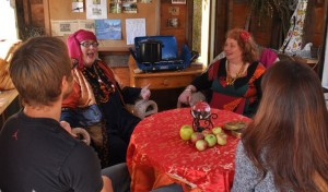 The Apple Fortune Tellers at the Annual Apple Fest in Sooke