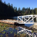 The new fishing dock at Poirier Lake Sooke