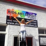 Sooke Artist Shanna Hamilton gets ready to open her new art studio