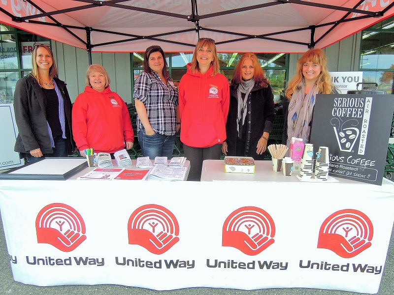 From left to right: Daphne Raymond (SFRS), Celelia David (United Way/Royal Roads), Sandi Brumovsky (Youth Navigator, SFRS), Kelly Norman (United Way/Island Health), Arlene Rees (Sooke Transition House Society), Laura Brown (Stopping the Violence counsellor with STHS)