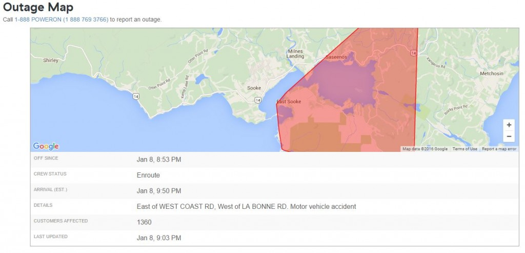 bcHydro Jan8 outage