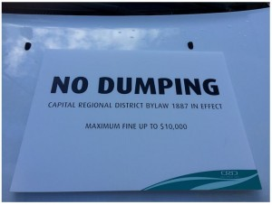 No Dumping - Sign