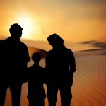 Unmodified image from Pixabay https://pixabay.com/en/family-sun-sunset-woman-children-812102/