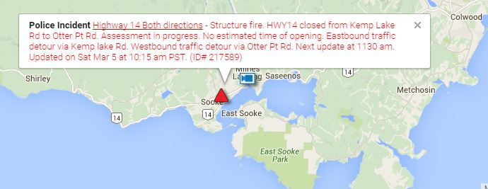 Click to view the map on Drive BC