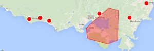 Outages Map Sunday March 13 East Sooke