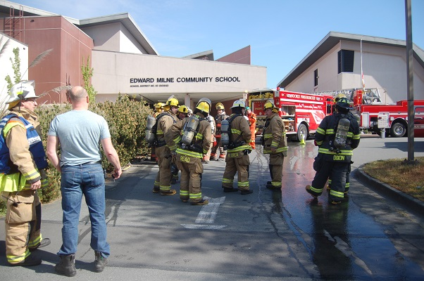 Live wildfire training exercise takes place in Sooke on June