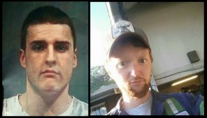 Joshua Lafleur (r) and one other male are still being sought; Dusting Brown (r) has been arrested and charged with two counts of attempted murder.