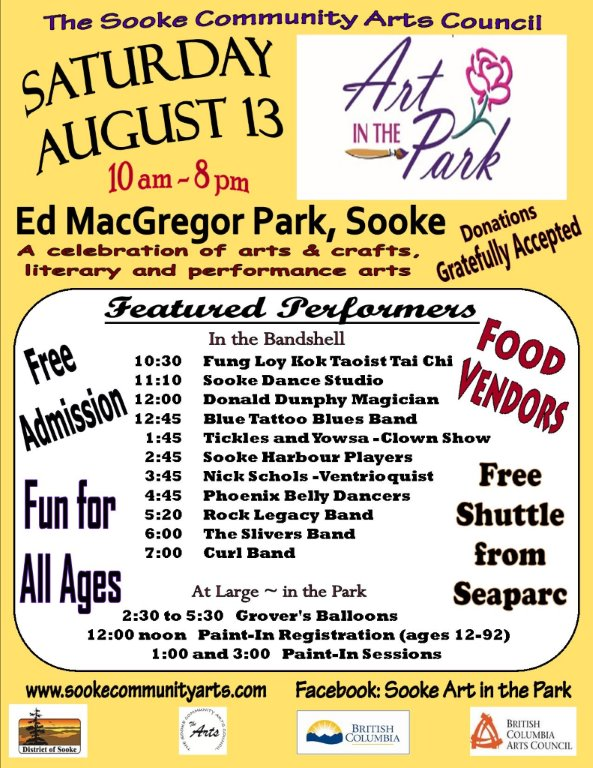 Art in the Park Poster 2016 letter