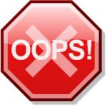 "By Original file created by Stannered, Offnfopt added new text ""OOPS!"" - Derivative work of File:Stop x nuvola.svg, CC BY-SA 2.5, https://commons.wikimedia.org/w/index.php?curid=39568049"