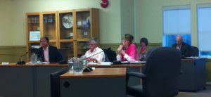 Pink was the prevalent colour among staff at the July 11 Regular Council meeting.