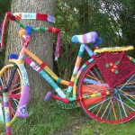 Yarn bomb! By Baykedevries - Own work, CC BY-SA 3.0, https://commons.wikimedia.org/w/index.php?curid=22737566