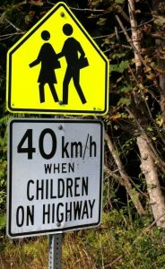 School zone sign along Sooke Rd. SPN photo