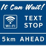 WIFI text stop ahead