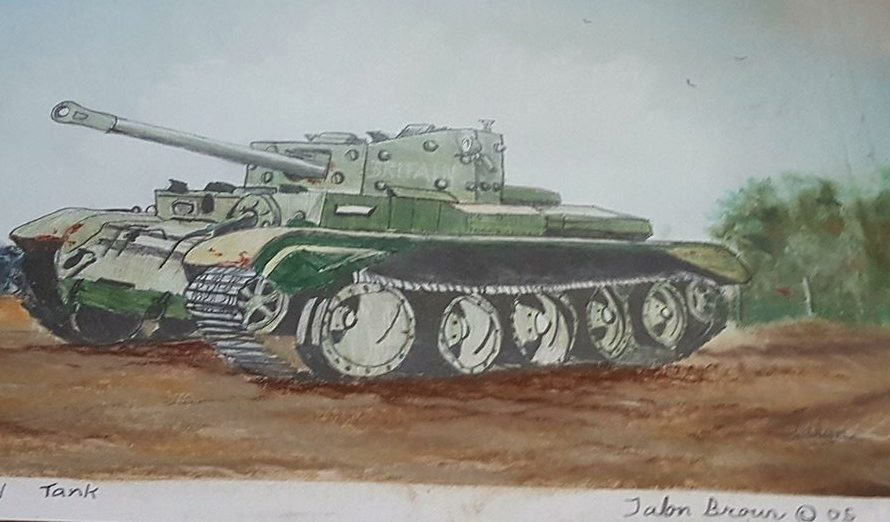 Talon's drawing of a tank at 11 years old