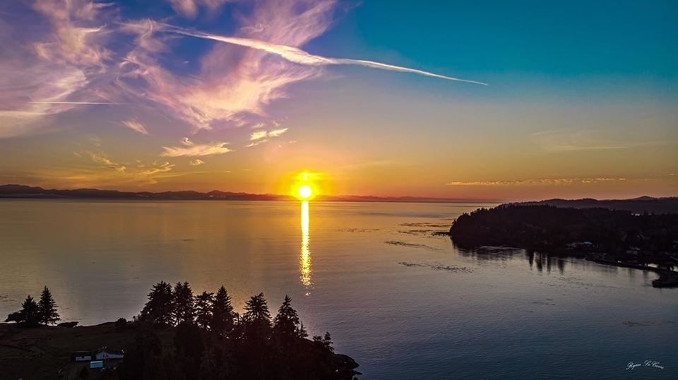Sunset from East Sooke, from Ryan Le Corre