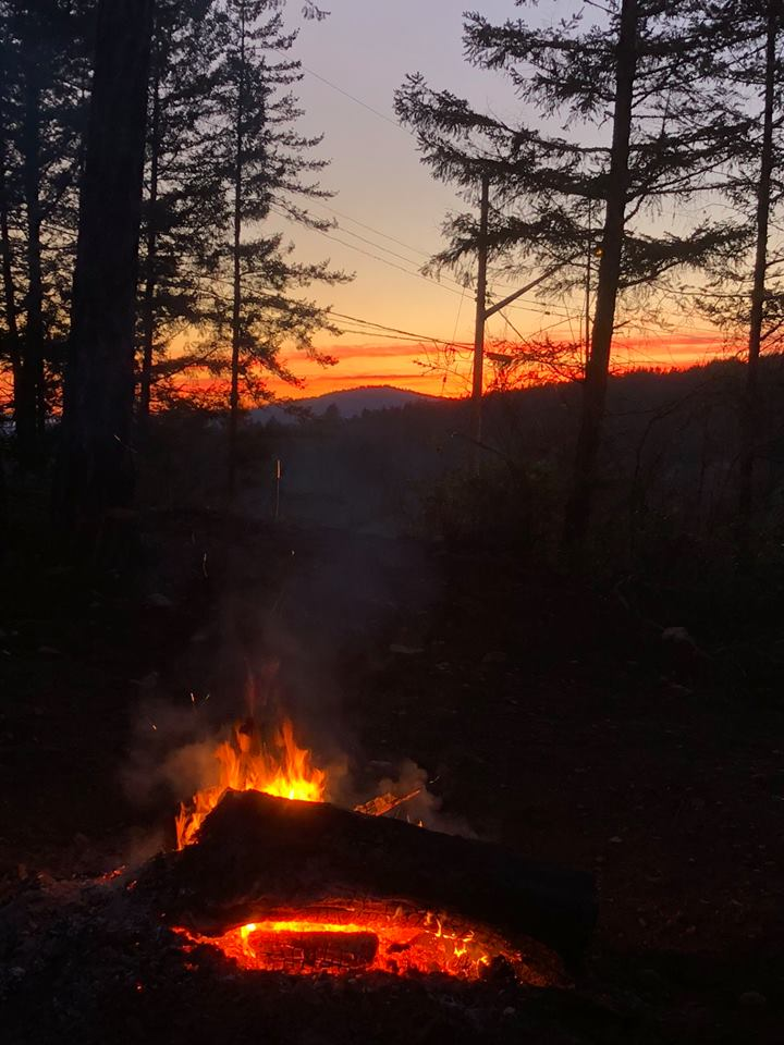 Fire pit, fiery sky, from Mark Rollefson