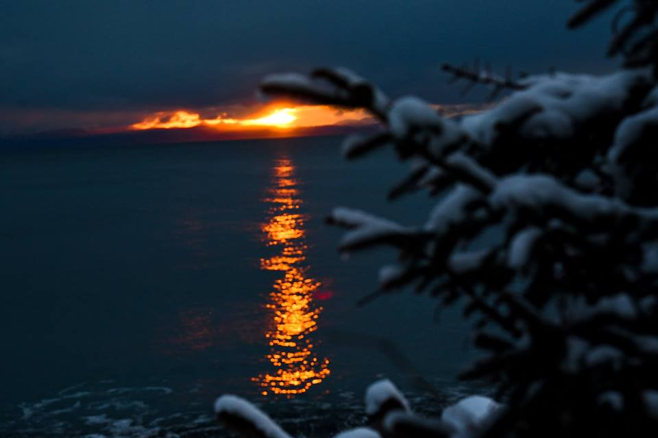 Snowy sunset, from Joyce MacKinnon