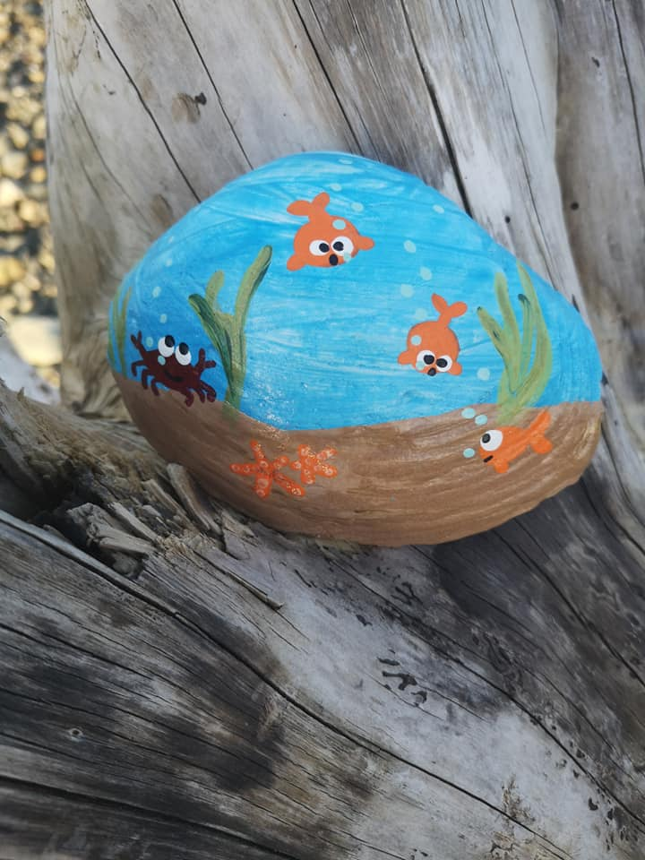 Painted rock, from Gunny Tennese